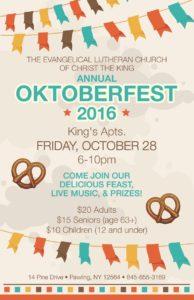 OKTOBERFEST – Friday, October 28 – 6:00pm