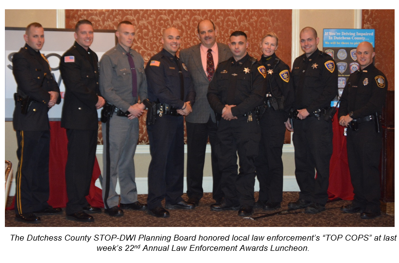 "22nd Annual STOP-DWI Law Enforcement Awards Honor Local ""TOP"