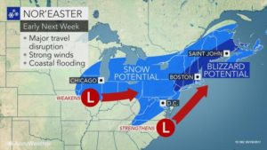 Hazardous Weather Outlook – A strong coastal storm is expected to develop early next week