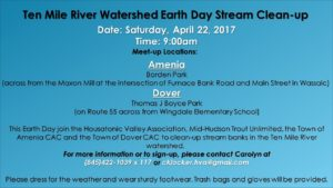 Ten Mile River Watershed Earth Day Stream Clean-up