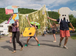 Parade through the streets at The Wassaic Project May Festival & Summer Exhibition Opening on May 20th