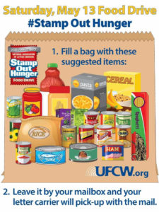 HELP STAMP OUT HUNGER: Saturday, May 13th