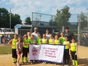The Pawling Little League 8-10 year old minors softball team is moving on to states