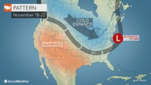 Polar vortex may unleash bitterly cold air, snow for northeastern US prior to Thanksgiving