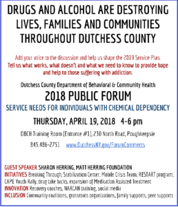 Chemical Dependency Forum This Thursday at 4 p.m.