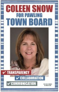A Letter from Coleen Snow for Pawling Town Board