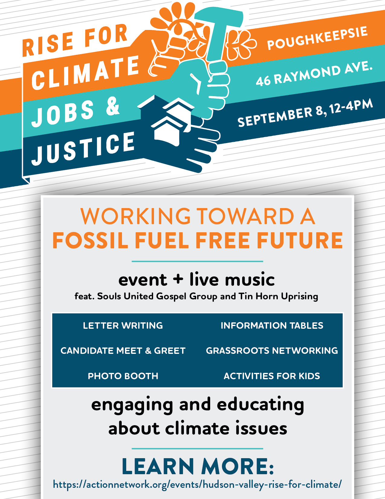 Hudson Valley RISE for Climate event on Sept  8th, 2018