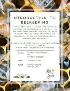 Harlem Valley Homestead for Beekeeping 101!