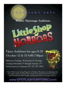 Open Auditions for LITTLE SHOP OF HORRORS This Weekend Only!