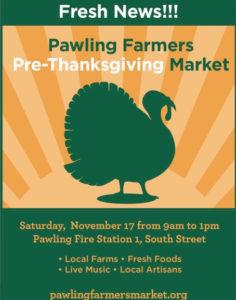 Pawling Farmers Pre-Thanksgiving Market