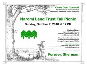 Join Naromi Land Trust for its 50th Annual Picnic Sunday, October 7th