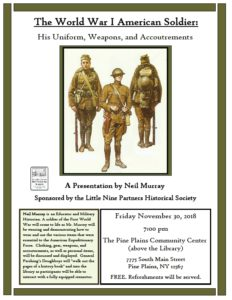 Historical program in Pine Plains on Nov. 30