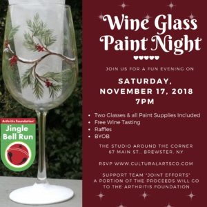 Wine Glass Painting Party Fundraiser to Benefit the Arthritis Foundation.