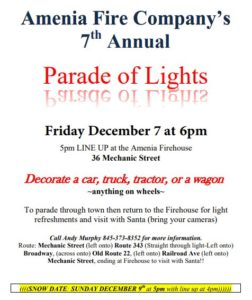 Amenia Fire Company 7th Annual Parade of Lights
