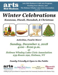Winter Celebrations, Please join us on December 2nd in Holmes
