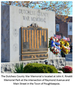Dutchess County War Memorial Ceremony  Highlights Slate of Local Veterans Days Events