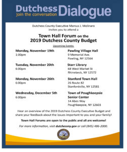 County Town Hall Forum Series Starts Monday in Pawling, Residents invited to learn more, ask questions