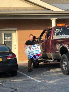 Campaign Sign Theft, Karen Smythe's Response