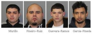 Four males arrested on drugs and weapons charges