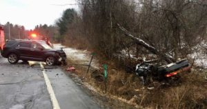 DEPUTY SHERIFF'S INVESTIGATE SERIOUS ACCIDENT IN CLAVERACK