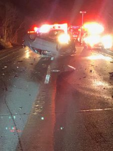 The State Police are investigating a multi-vehicle crash with injuries on eastbound Interstate 84