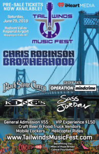 Tail Winds Music Fest Lands at Hudson Valley Regional Airport June 29th