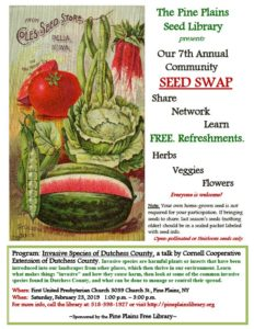 Pine Plains Seed Library Annual Seed Swap