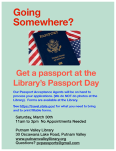 PASSPORT DAY AT THE PUTNAM VALLEY LIBRARY