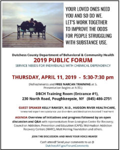 Chemical Dependency Public Forum