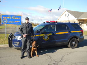 Troop K announce the appointment of Trooper Justin M. Bell to the position of Bloodhound Handler