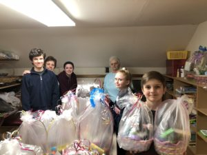 Children from Christ Church Sunday School volunteered their time to assemble Easter Baskets for the Pawling Resource Center.