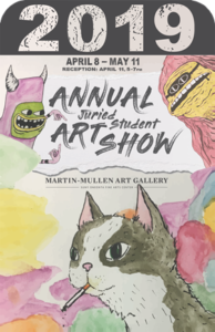 "Emma Noyes of Poughquag has her artwork featured in ""Annual Student Juried Art Exhibition 2019"""