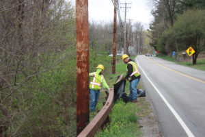 Dutchess County Highway Crews Participate in Annual Cleanup to Celebrate Earth Day