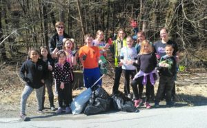 Over 16 large bags of litter are all cleaned up from Cart Road in Dover