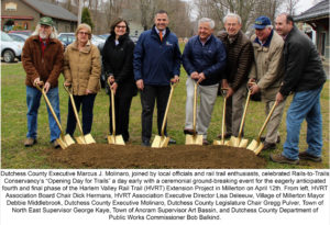 Harlem Valley Rail Trail Phase IV Construction Celebrated with Ground Breaking Ceremony in Millerton