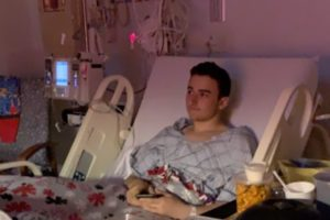 PAWLING TEEN IN FIGHT FOR HIS LIFE