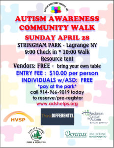 Autism Awareness Community Walk Sunday, April 28th