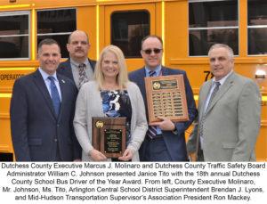 Arlington's Janice Tito Honoredas School Bus Driver of the Year