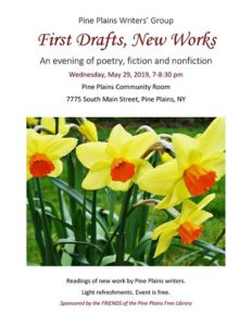 Pine Plains Writers Group, First Drafts, New Works