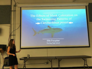 Ellie Farquhar presents her Science Research at the Biological Conservation Symposium at University of California at Berkeley