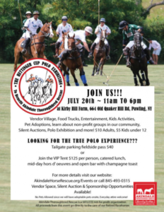 The Hettinger Cup – Charity Polo Exhibition to benefit Akindale Thoroughbred Rescue