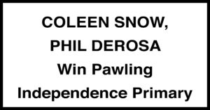 Coleen Snow and Phil DeRosa win the Independence Party Primary in Pawling