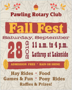 SAVE THE DATE FOR PAWLING ROTARY'S FALL FEST 2019!