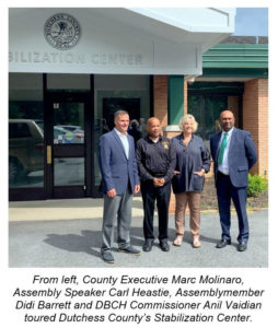 Molinaro Hosts State Leaders on Tour of County Stabilization Center