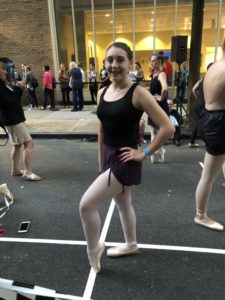 Emily Bruno from Dover High school helps break the world record of most Ballet dancers en pointe simultaneously