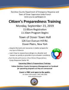 Citizen's Preparedness Training Coming to Town of Dover