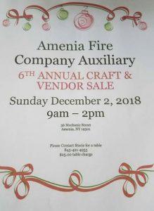 Amenia Fire Company Auxiliary 6th Annual Craft & Vendor Sale