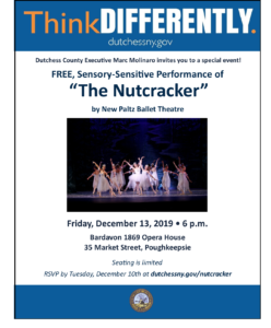 County to Host Sensory-Friendly Performance of 'The Nutcracker' at Bardavon 1869 Opera House