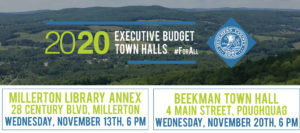 Budget Town Hall Forum Series Continues in Millerton and Beekman