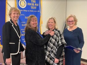 Jennifer Taylor induction in Pawling Rotary